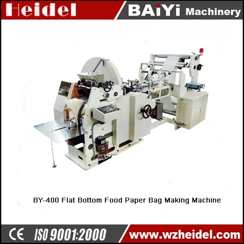 BY-400 Flat Bottom Food Paper Bag Making Machine